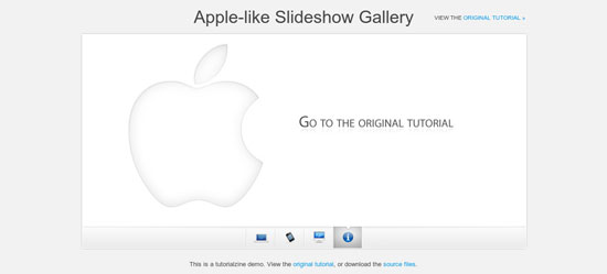 A Beautiful Apple-style Slideshow Gallery With CSS and jQuery